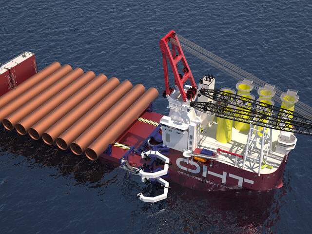 OHT Alfa Lift semi-submersible vessel.