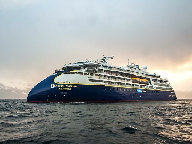 'National Geographic Endurance' - the first polar newbuild for Lindblad Expeditions. Photo: Marius Ertesvåg.