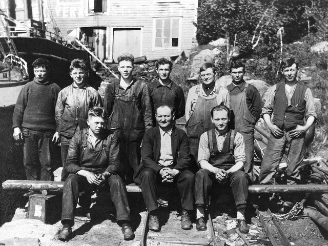 Martin Ulstein And His Colleagues At Ulstein Mek  Verksted Probably In 1927