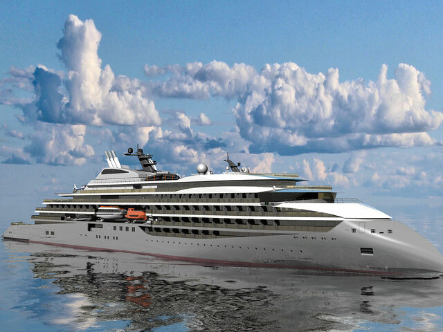 The CX111 design for an Ulstein Expedition Cruise Ship.
