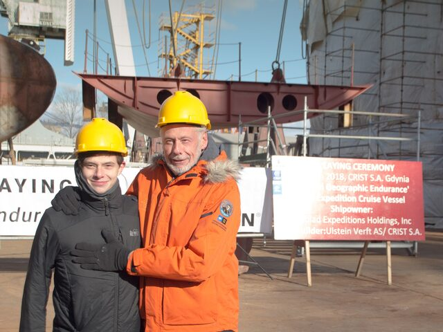 Keel laying ceremony on the expedition cruise vessel for Lindblad Holding, photo by Piotr Czarnecki.