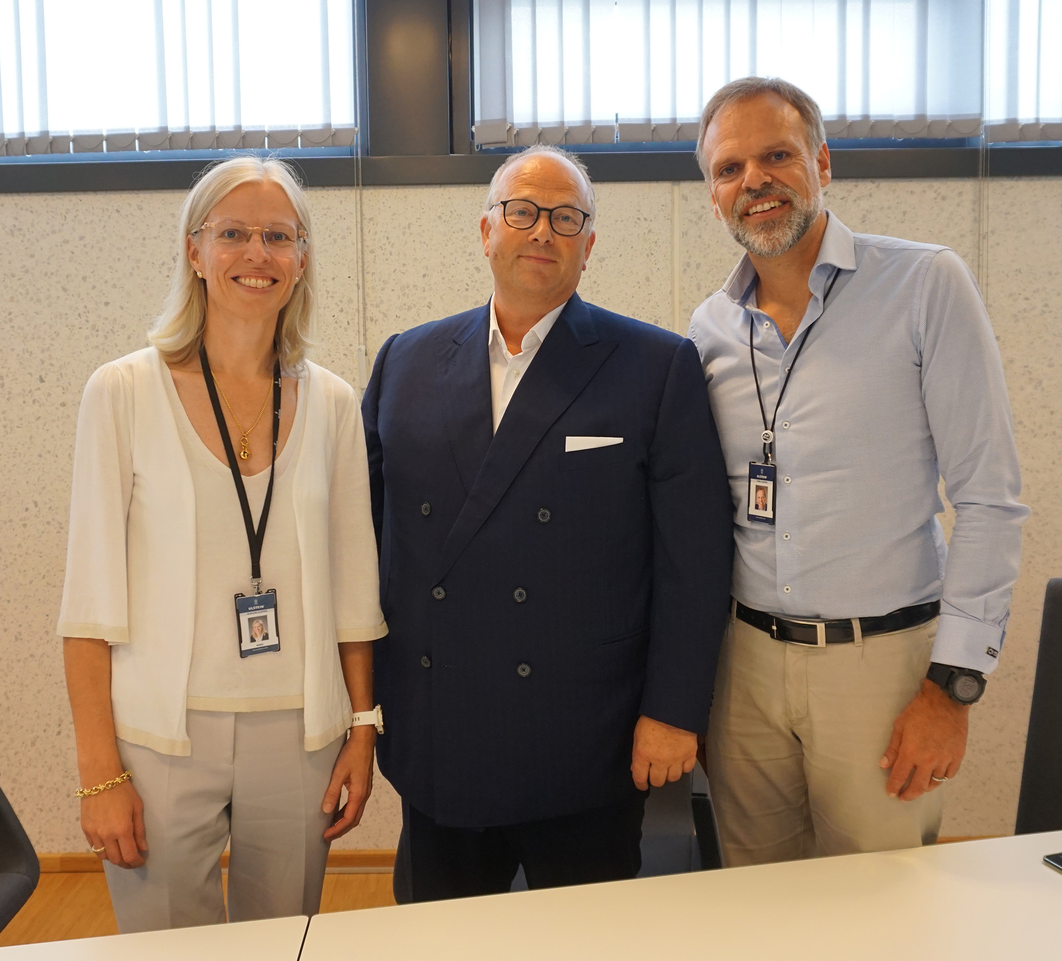From left: Gunvor Ulstein - CEO Ulstein Group, Trond Kleivdal - CEO Color Line, and Tore Ulstein - deputy CEO Ulstein Group.