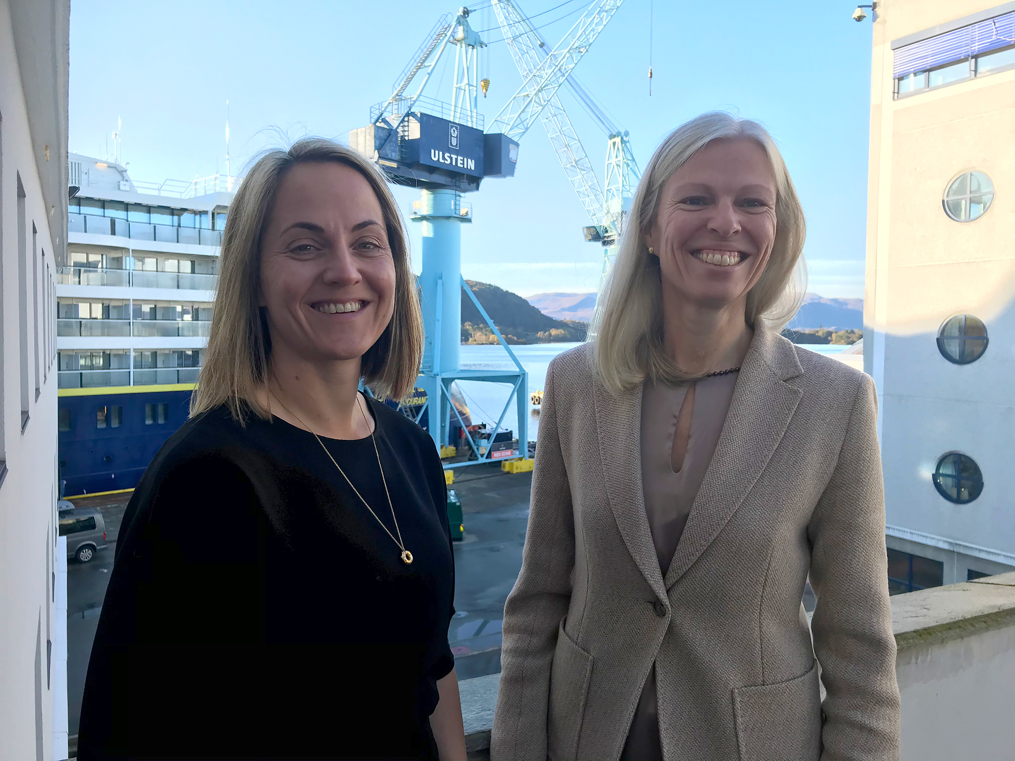Cathrine Marti (left) and Gunvor Ulstein.