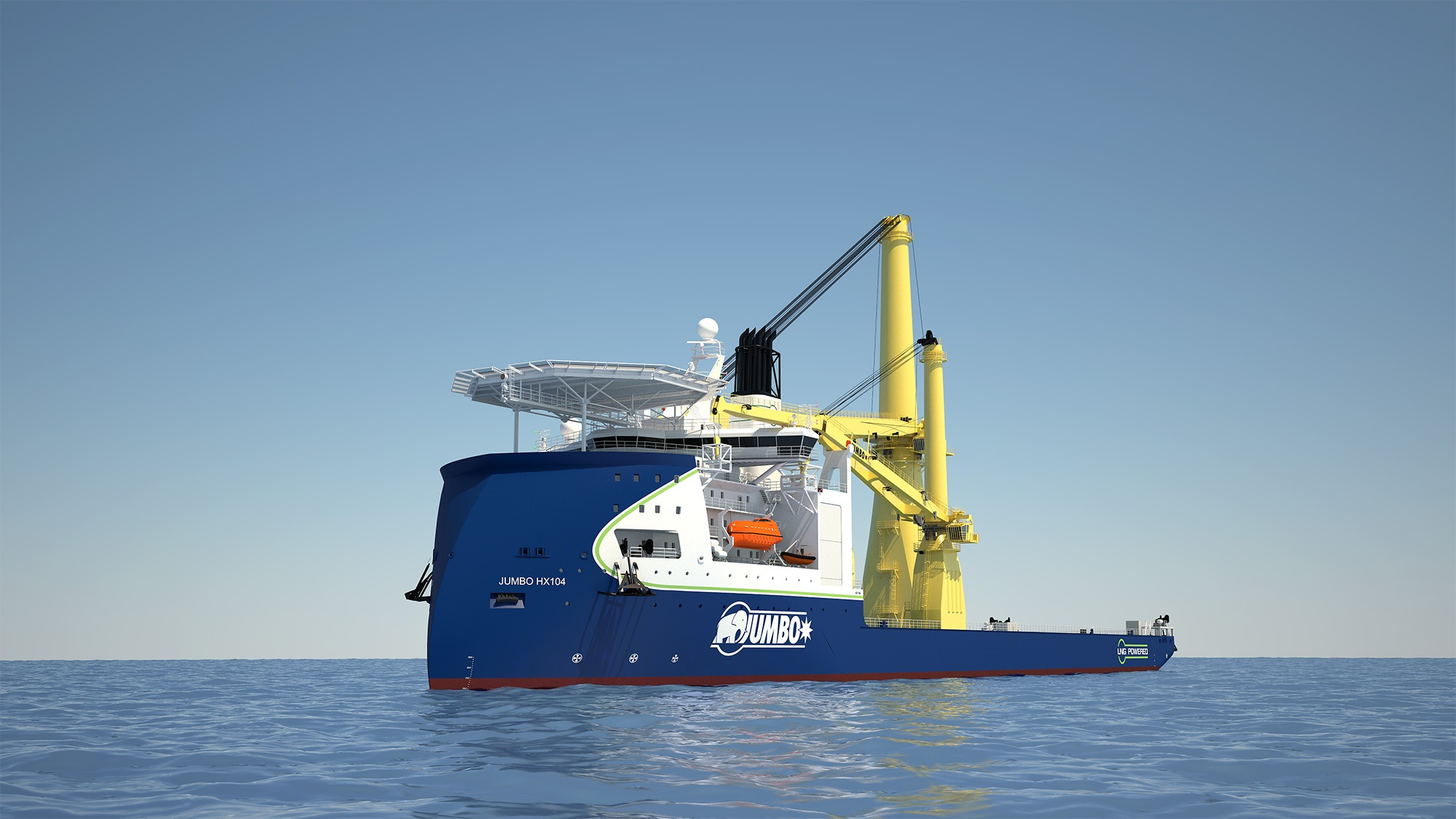 The 'Stella Synergy', a heavy lift crane vessel designed by Ulstein.