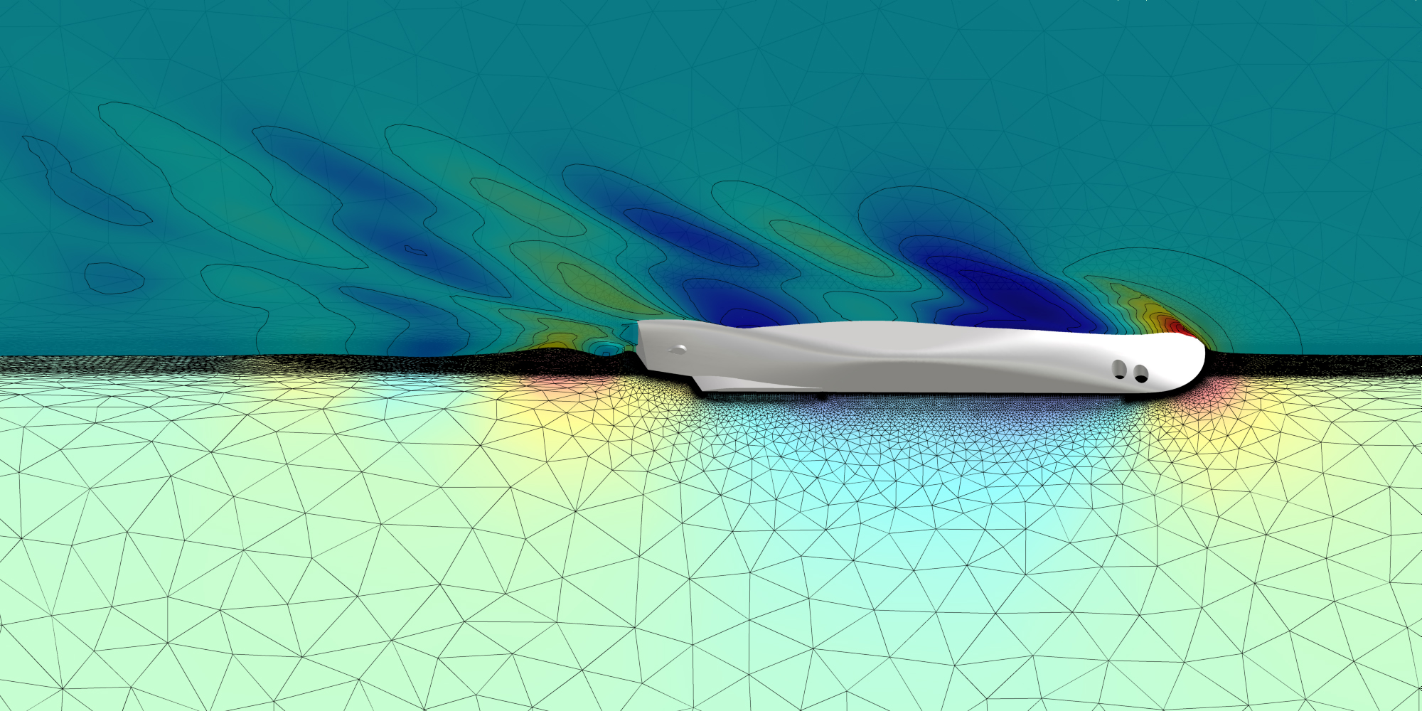 Marine CFD simulation on the appended ULSTEIN PX121 vessel