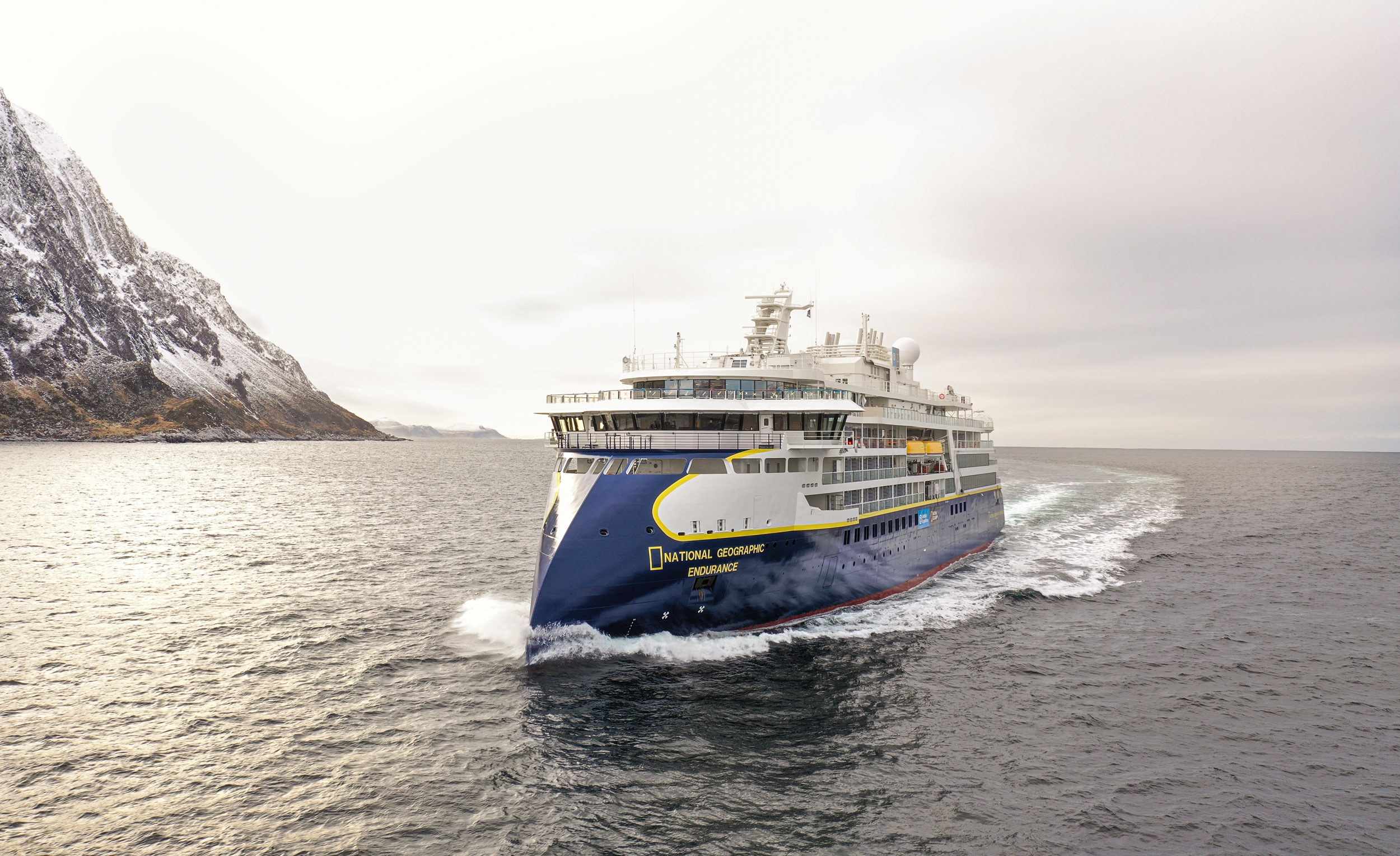 The 'NatGeo Resolution' is the sister ship to the 'NatGeo Endurance', and proves how a design feature such as the X-BOW, originally developed for other segments, can be successfully used in new market areas. Photo: Uavpic.com