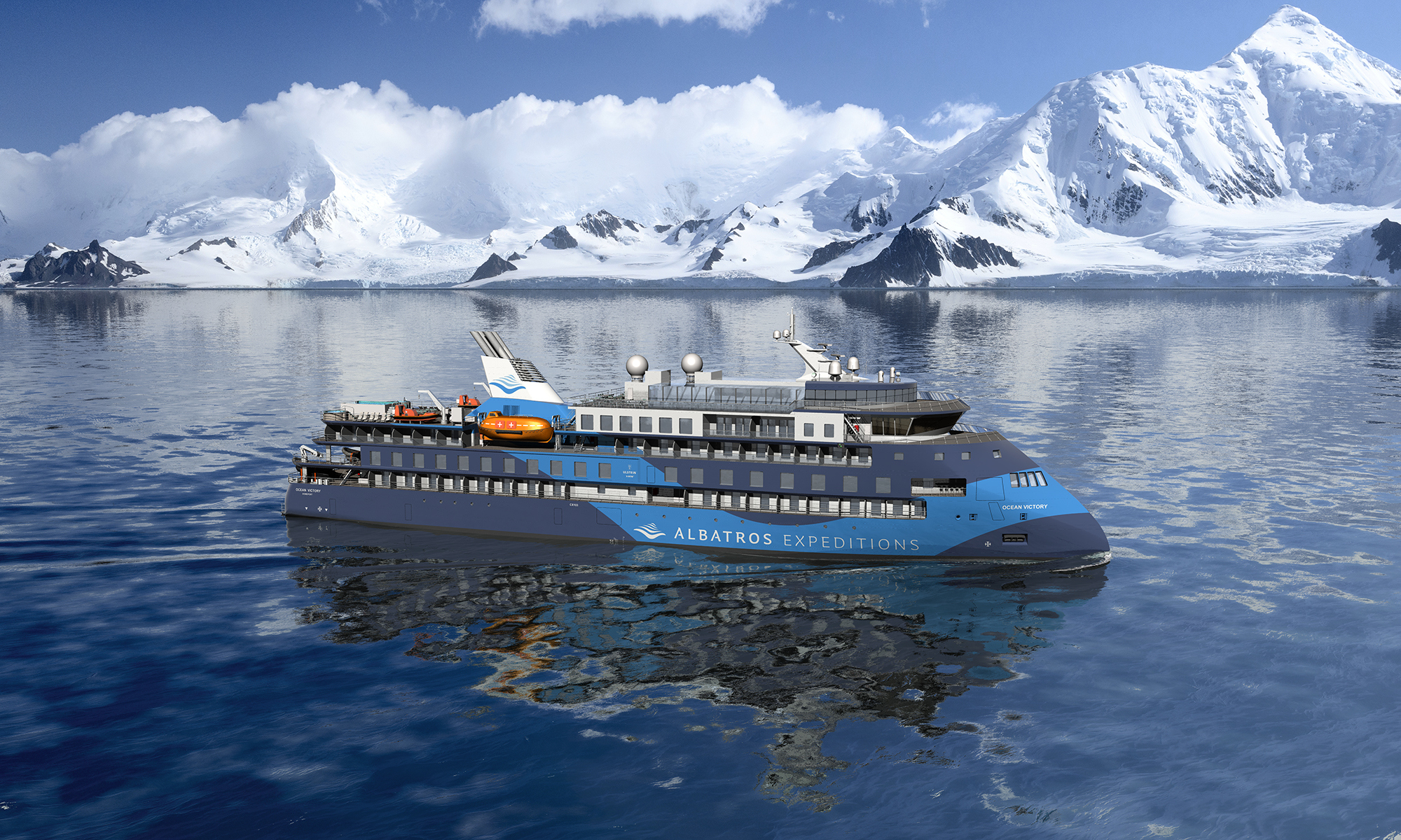 Ocean Victory, an ULSTEIN X-BOW design for outstanding views and comfort when travelling to polar areas.